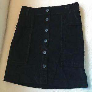 Zara - black velvet skirt